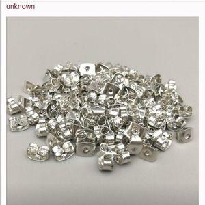 Silver earring backs